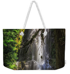 Weekender Tote Bag featuring the photograph Time Is An Illusion by Cat Connor