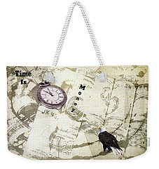 Weekender Tote Bag featuring the photograph Time Is Money by Diane Schuster