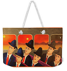 Weekender Tote Bag featuring the painting Time Passes By by Thomas Blood