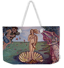 Time To Celebrate Our Sacred And Undeniable Rights Weekender Tote Bag by Kimberlee Baxter