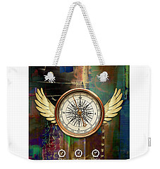 Weekender Tote Bag featuring the mixed media Time To Fly by Marvin Blaine