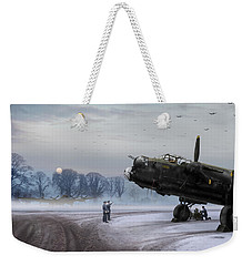 Weekender Tote Bag featuring the photograph Time To Go - Lancasters On Dispersal by Gary Eason