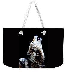 Time To Howl Weekender Tote Bag by Nick Gustafson