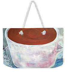 Weekender Tote Bag featuring the painting Time To Relax by Reina Resto