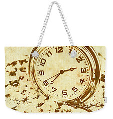 Time Worn Vintage Pocket Watch Weekender Tote Bag