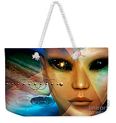 Weekender Tote Bag featuring the digital art Timeless Traveller by Shadowlea Is