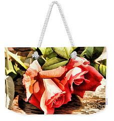 Timeless Tropicana Roses Weekender Tote Bag