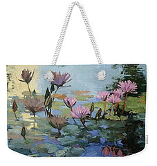 Times Between - Water Lilies Weekender Tote Bag
