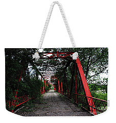 Time's Forgotten Walking Bridge Weekender Tote Bag by Natalie Ortiz