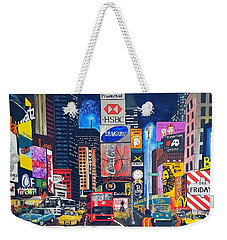Times Square Weekender Tote Bag by Autumn Leaves Art