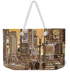 Times Square Weekender Tote Bag by Guido Borelli