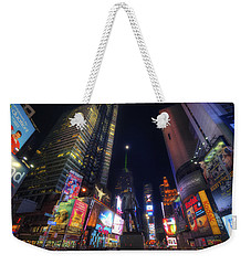 Times Square Moonlight Weekender Tote Bag