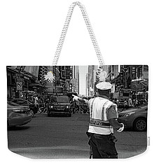 Times Square, New York City  -27854-bw Weekender Tote Bag