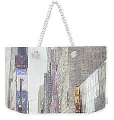 Times Square Street Scene Weekender Tote Bag by Dyle Warren