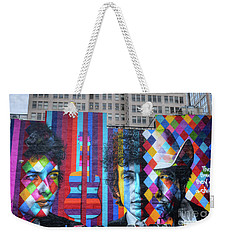 Times They Are A Changing Giant Bob Dylan Mural Minneapolis Fine Art Weekender Tote Bag