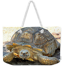 Timothy The Giant Tortoise Weekender Tote Bag