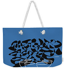 Weekender Tote Bag featuring the digital art Timpani In Blue by Jazz DaBri