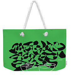 Weekender Tote Bag featuring the digital art Timpani In Green by Jazz DaBri