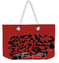 Weekender Tote Bag featuring the digital art Timpani In Orange Red by Jazz DaBri
