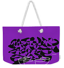 Weekender Tote Bag featuring the digital art Timpani In Purple by Jazz DaBri