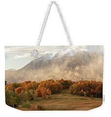 Weekender Tote Bag featuring the photograph Timpanogos Veil by Dustin LeFevre