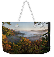 Weekender Tote Bag featuring the photograph Tinkers Creek Gorge Overlook by Dale Kincaid