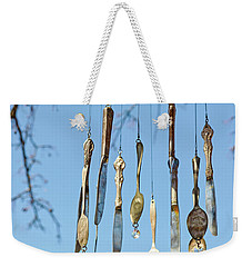 Weekender Tote Bag featuring the photograph Tintinnabulation.. by Nina Stavlund