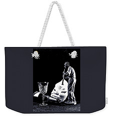 Weekender Tote Bag featuring the photograph Tiny Desk Concert by Elf Evans