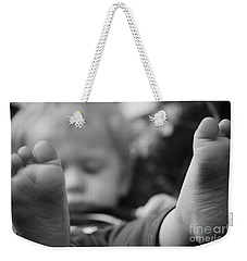 Weekender Tote Bag featuring the photograph Tiny Feet by Robert Meanor