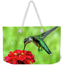 Weekender Tote Bag featuring the photograph Tiny Feet by Sue Melvin