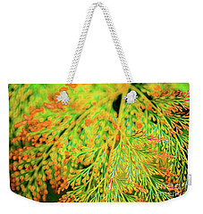 Weekender Tote Bag featuring the photograph Tiny Flowers Blooming  by D Davila
