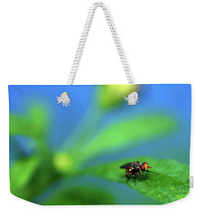 Tiny Fly On Leaf Weekender Tote Bag