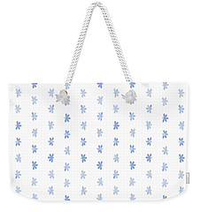 Tiny Naupaka Faded Indigo Weekender Tote Bag