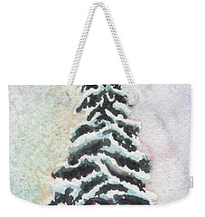 Tiny Snowy Tree Weekender Tote Bag