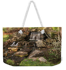 Weekender Tote Bag featuring the photograph Tiny Stream by Angie Tirado