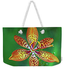 Tiny Tropical Lily Weekender Tote Bag