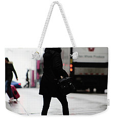 Weekender Tote Bag featuring the photograph Tiny Umbrella  by Empty Wall
