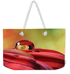 Tiny Water Drop Reflections Weekender Tote Bag by Angela Murdock