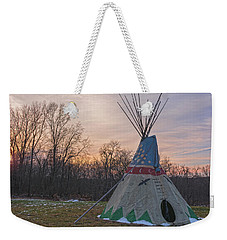 Tipi Sunset Weekender Tote Bag by Angelo Marcialis