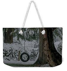 Tire Swing In Winter Weekender Tote Bag