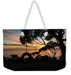 Tire Swing Sunset Weekender Tote Bag