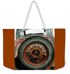 Weekender Tote Bag featuring the painting Tired by Ferrel Cordle