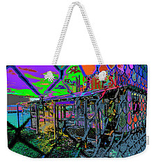 Tires And Broke Behind The Fence Weekender Tote Bag