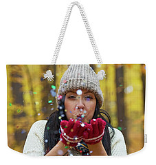 Weekender Tote Bag featuring the photograph Tis The Season.. by Nina Stavlund
