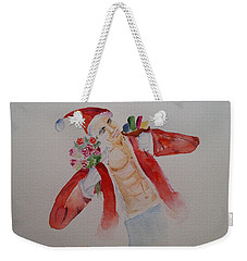 'tis The Season Watercolor Art Weekender Tote Bag