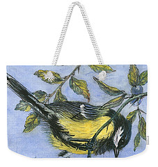 Tit In Blackthorn And Sloe Weekender Tote Bag by Nell Hill