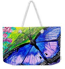 Titanium Butterfly Weekender Tote Bag