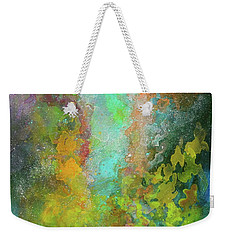 Title. Allegro Abyss. Abstract Acrylic Painting. Weekender Tote Bag