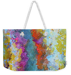 Title. Symphonic Nebula. Abstract Painting. Weekender Tote Bag