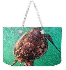 Tito The Turtle Weekender Tote Bag by Erika Swartzkopf